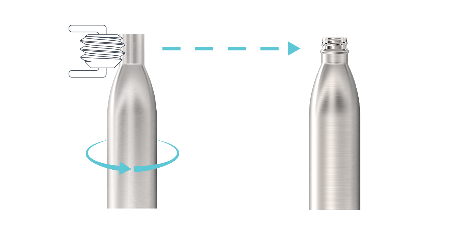 Hoe we onze metalen flessen maken - Step3